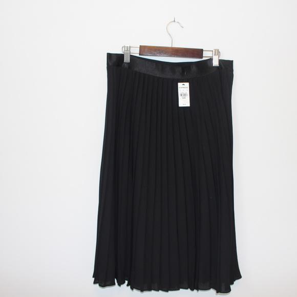 Express Dresses & Skirts - Black pleated skirt
